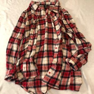 Lightweight Plaid Button Up